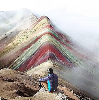 Montaña arcoiris Montaña 7 colores